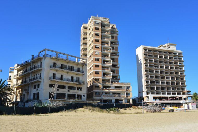 Leerstehende Hotelgebäude von Varosha auf Zypern.