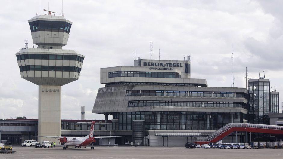 Blick auf den Flughafen Berlin Tegel.