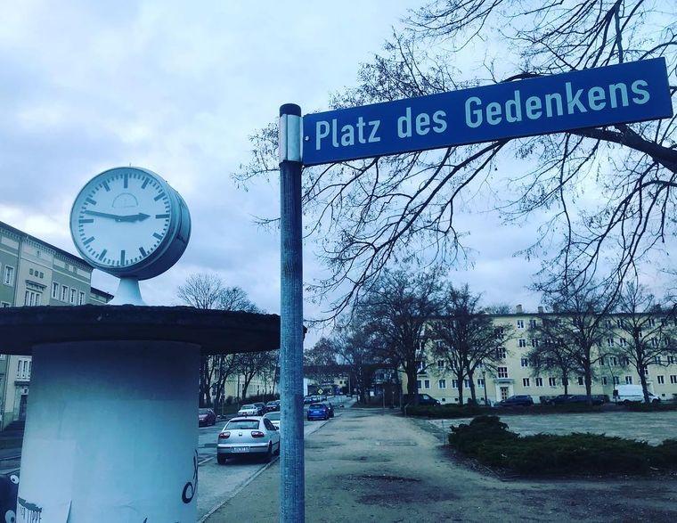 Platz des Gedenkens in Eisenhüttenstadt.