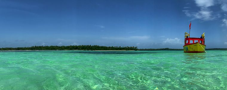 Blick auf das Bucco Reef in Tobago.
