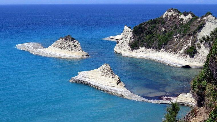 Kap Drastis, Korfu, Griechenland.