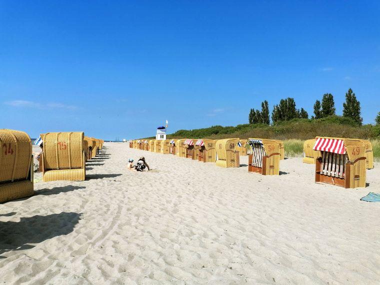 Auf der Insel Poel punktet der Timmendorfer Strand mit feinem Sand.