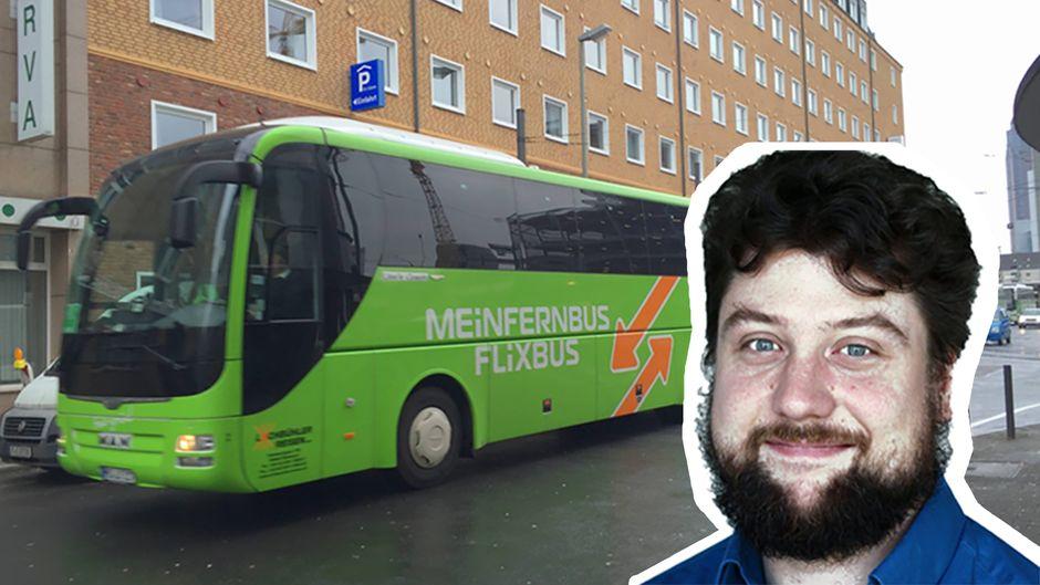 Sebastian Quillmann (34) schlief im Flixbus ein – und wachte in Paris auf.