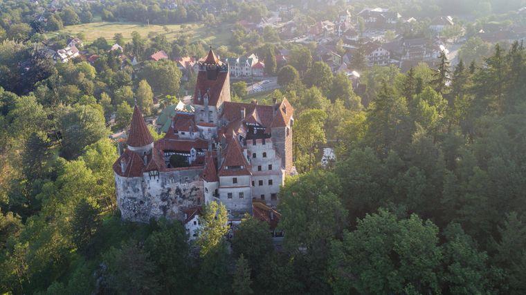 Das mittelalterliche Schloss Bran in Rumänien.