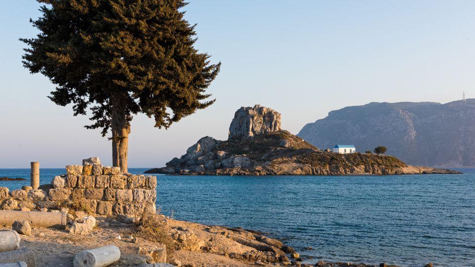 Archäologische Stätte auf Kos. Wann ist die beste Reisezeit für die Insel?