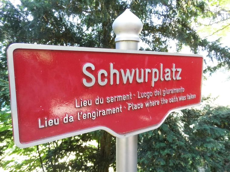 Geschichte auf dem Rütli: Auf einer Bergwiese über dem Vierwaldstätter See legten die Schweizer einst ihren historischen Eid ab.