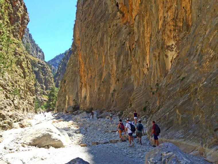 Die wilde Samaria-Schlucht – mit 18 Kilometer Länge eine der längsten in Europa.
