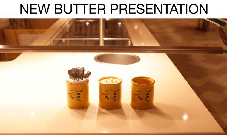 Die Butter wird bei Carnival Cruises nun in Bottichen und Messern serviert.