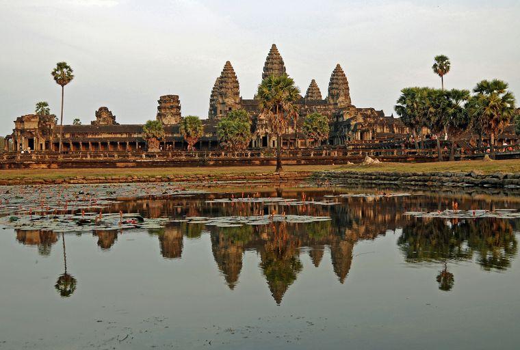 Die Tempelanlage Angkor Wat in Kambodscha.