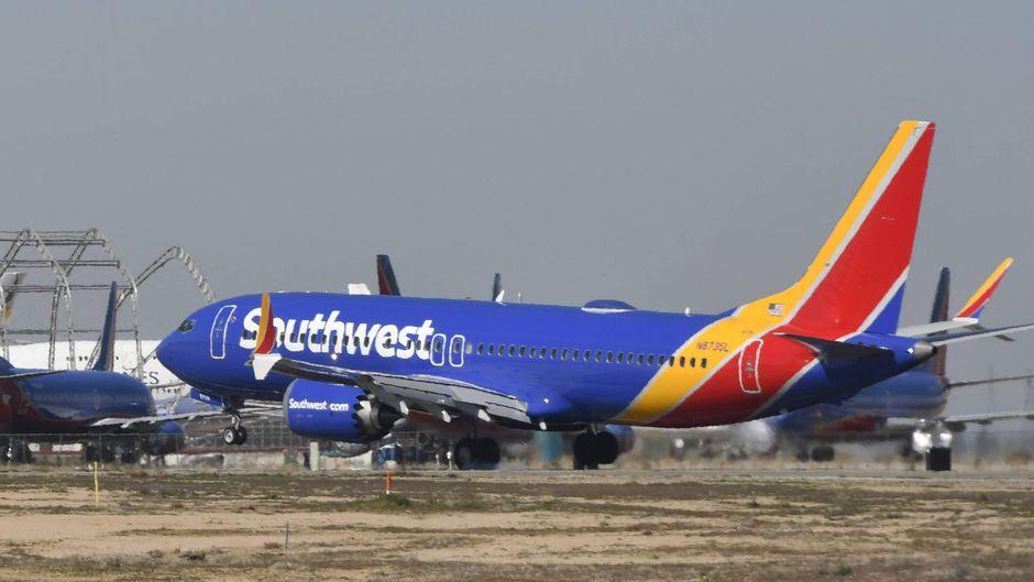 Southwest Airlines hat die Boeing 737 Max 8 für Software-Arbeiten nach Victorville in Kalifornien geflogen.