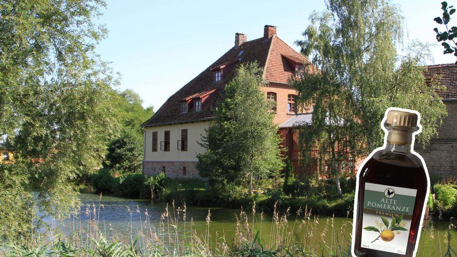 Die Hahnsche Genussmanufaktur stellt in der Wasserburg Liepen den Likör Alte Pomeranze her.