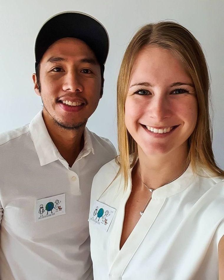 Miguel und Nikki haben gemeinsam eine Plattform für Backpacker gegründet.