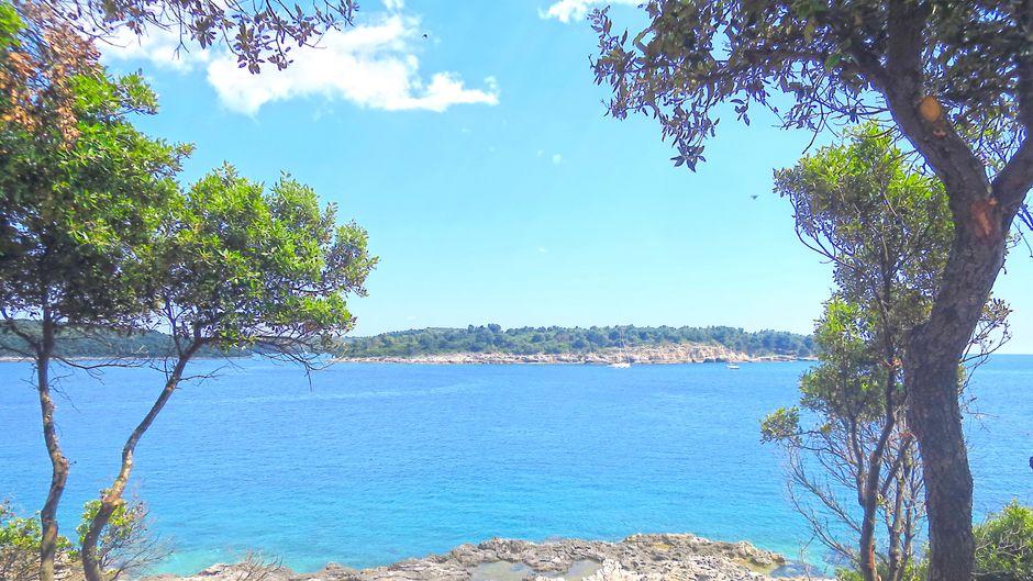 Türkis strahlendes Meer, schroffe Klippen und grüne Hügel: Das ist die kroatische Halbinsel Istrien.