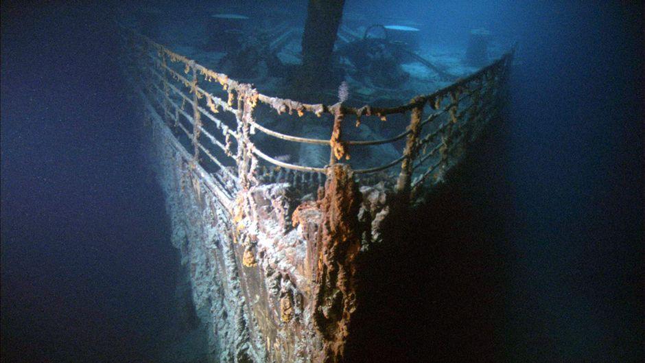 """Filmaufnahme aus der Dokumentation """"Die Geister der Titanic""""."""