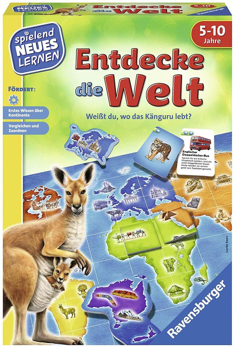 Wo leben Känguru und Co.? Das können Kinder ab fünf Jahren in diesem Spiel herausfinden.
