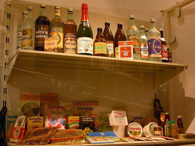 Lebensmittel aus der DDR im Grenzlandmuseum.