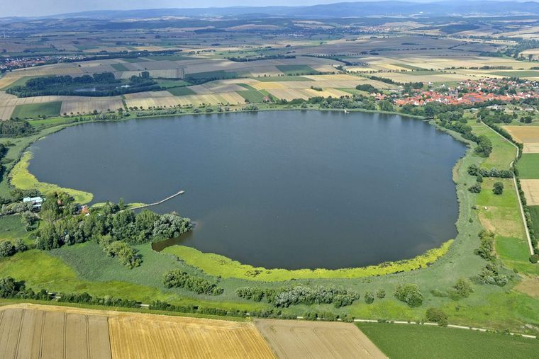 Der Seeburger See aus der Luft.