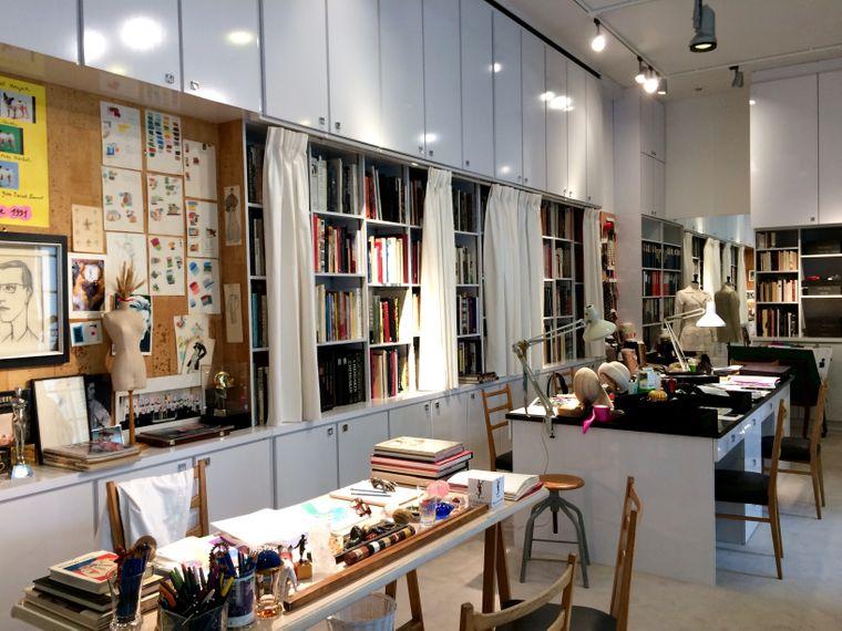 Das Atelier von Yves Saint Laurent.