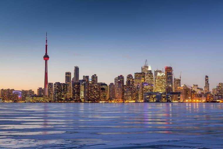 Blick auf den Hafen von Toronto Island