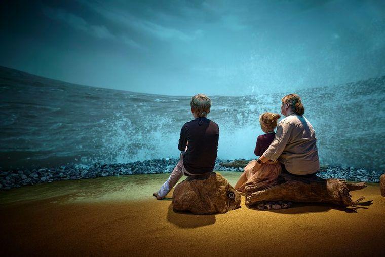 Kinder im Øhavsmuseet im Süden von Fünen.