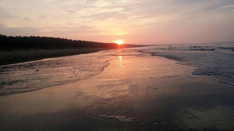 Sonnenuntergang am Trassenheider Strand auf Usedom.