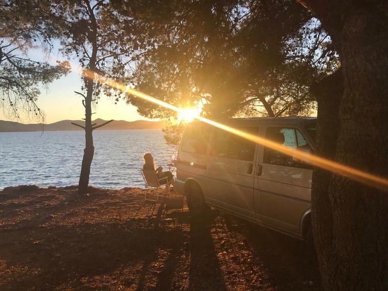 Sonnenuntergang in Zadar.