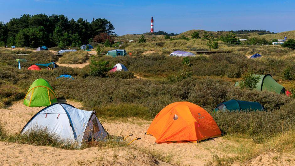 Perfekte Lage am Meer: der Zeltplatz auf Amrum.