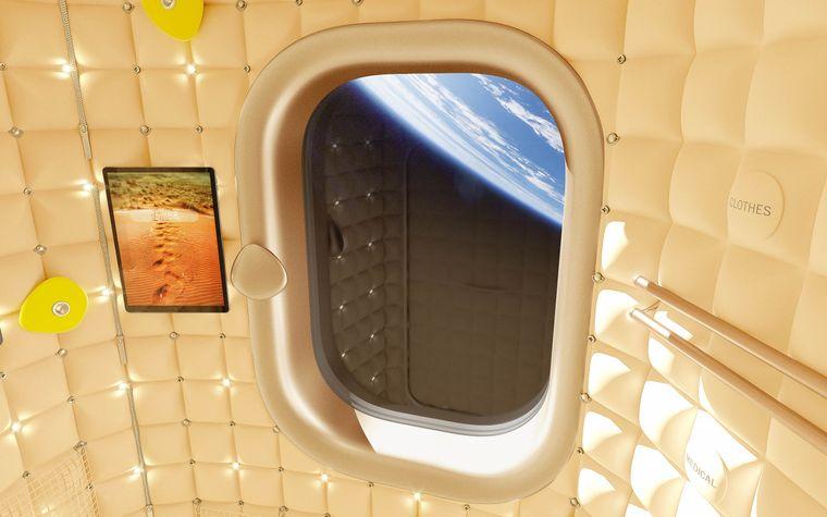 Die Räume der Axiom Space haben Fenster mit Blick auf die Erde.