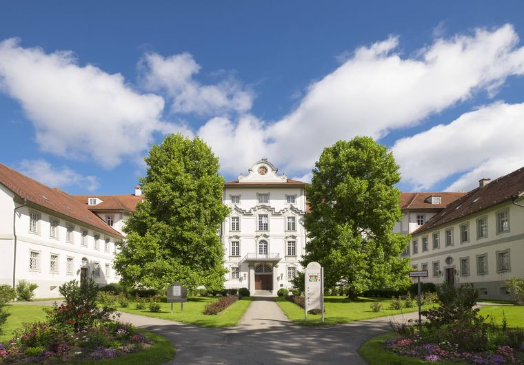 Das barocke Wurzacher Schloss in Schwaben, Baden-Württemberg.