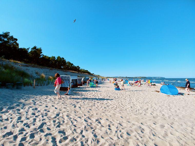 Für Hobbytaucher, große und kleine Nichtschwimmer ein Paradies – Der Strand zwischen Lobbe und Thiessow.