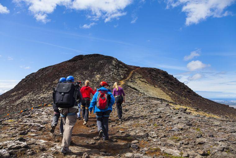Rund 50 Minuten dauert die Wanderung auf den inaktiven Vulkan.