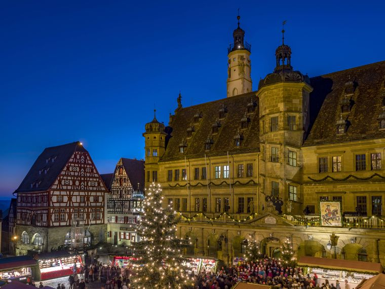 Weihnachtsmarkt in Rothenburg ob der Tauber.