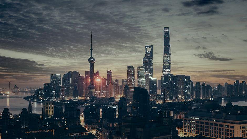 Die Skyline von Shanghai.