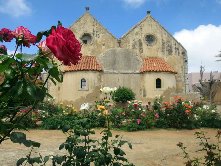 Das Kloster Arkadi findest du auf Kreta.