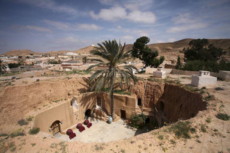 Im Hotel Sidi-Driss in Matmata wurden die Innenaufnahmen von Luke Skywalkers Zuhause gedreht.