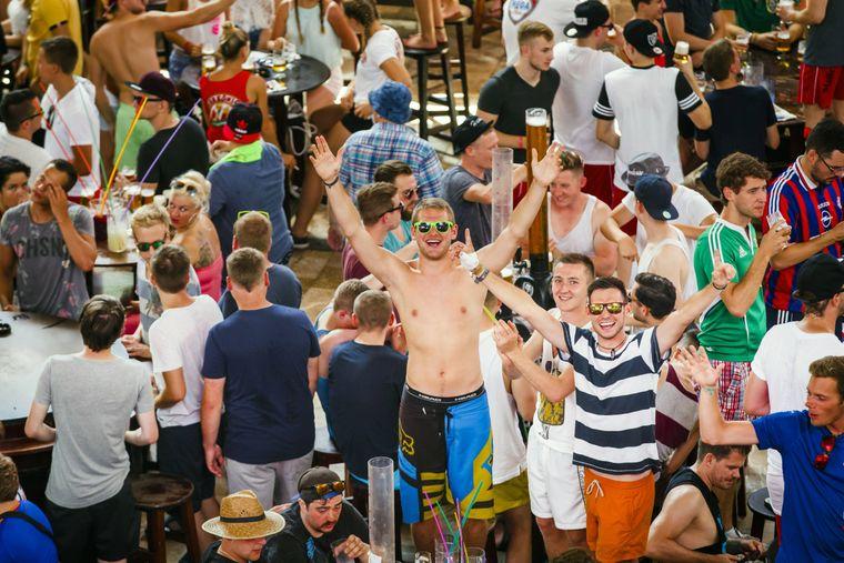 Party im Megapark auf Mallorca.