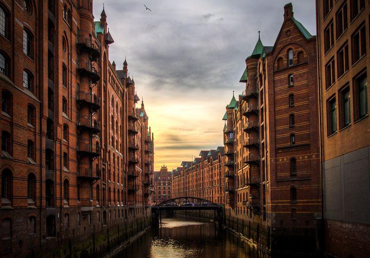 Hamburg, historische Speicherstadt, Unesco-Welterbe