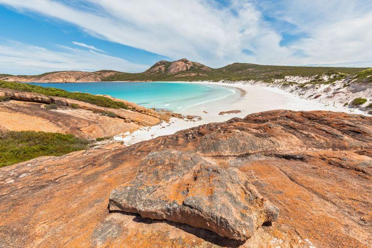 Felsenformationen an der Turquoise Bay im Cape Le Grand National Park in Australien.