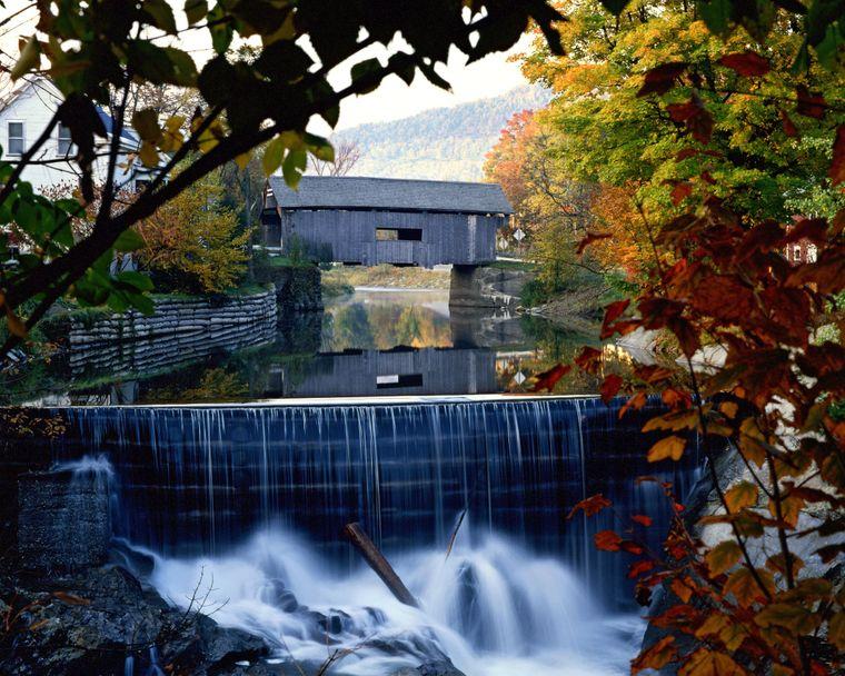 Überdachte Brücke in Vermont