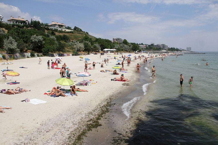 Der Golden Shore Beach in der Ukraine.