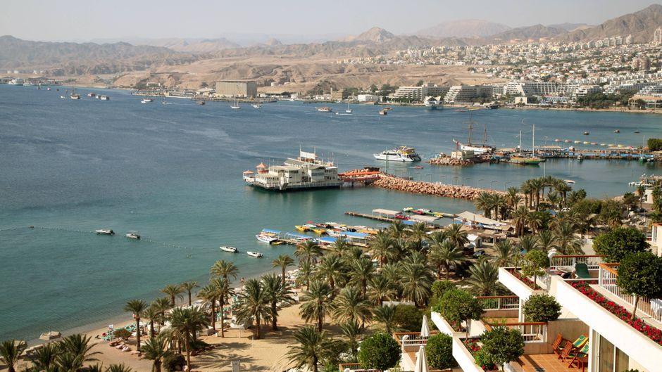 Blick auf Eilat am Roten Meer in Israel
