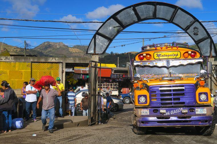 Der Marktplatz von Matagalpa.