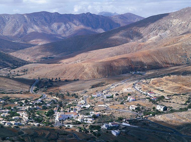 Die einzigartige Landschaft auf Fuerteventura.
