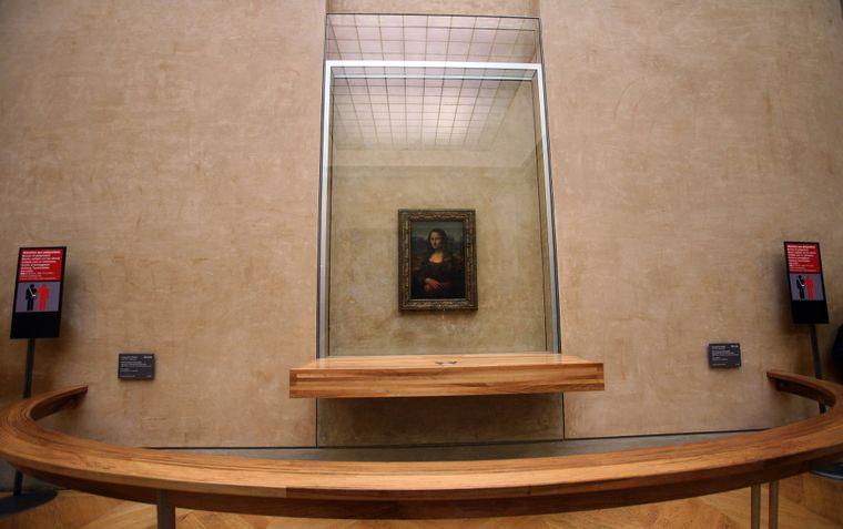 Die Mona Lisa im Pariser Louvre.