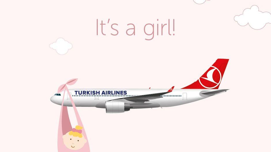Turkish Airlines bringt Baby zur Welt