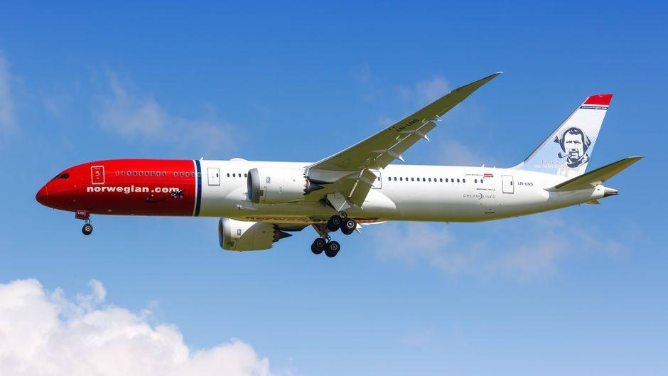 Eien Boeing 787 Dreamliner von Norwegian Air.