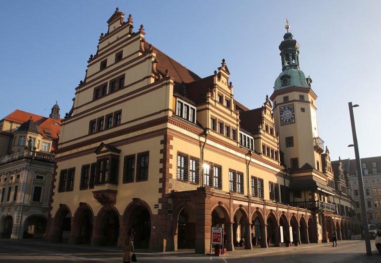 Das Alte Rathaus am Leipziger Marktplatz.