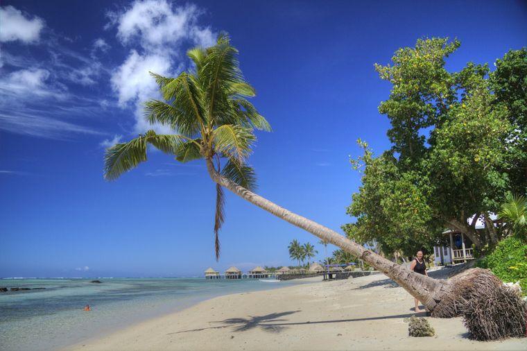 Traumstrand auf Samoa.