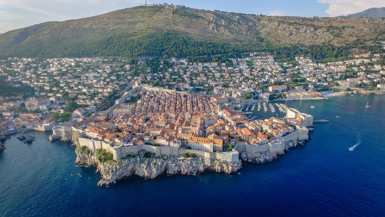 Blick auf die Altstadt von Dubrovnik, Kroatien