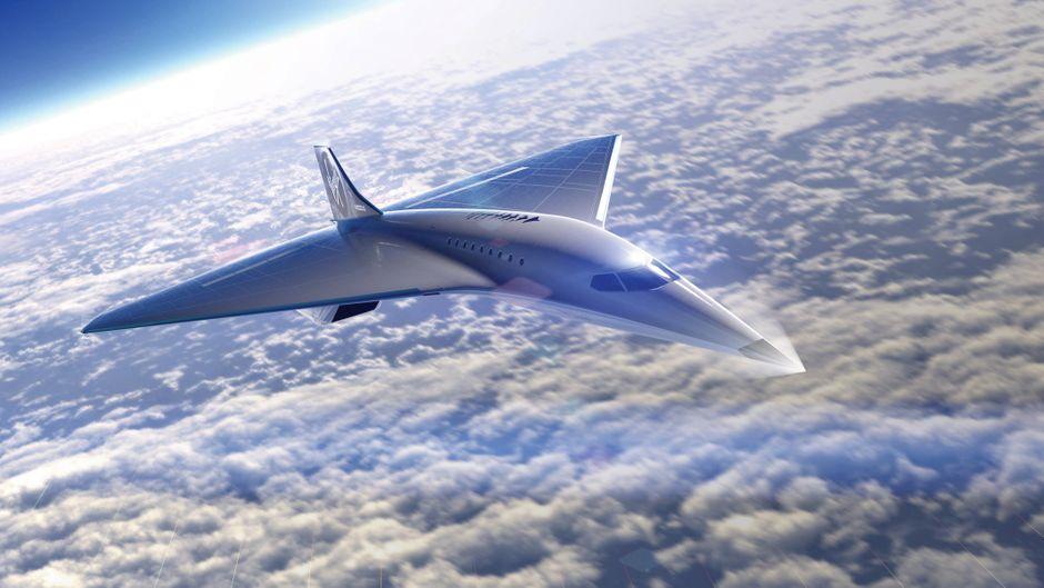 Ein Flugzeug von Virgin Galactic und Rolls-Royce.